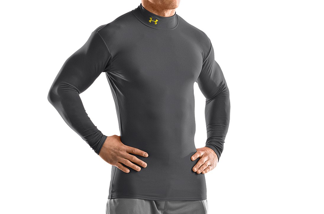 Men's ColdGear® Long Sleeve Compression Mock, Graphite