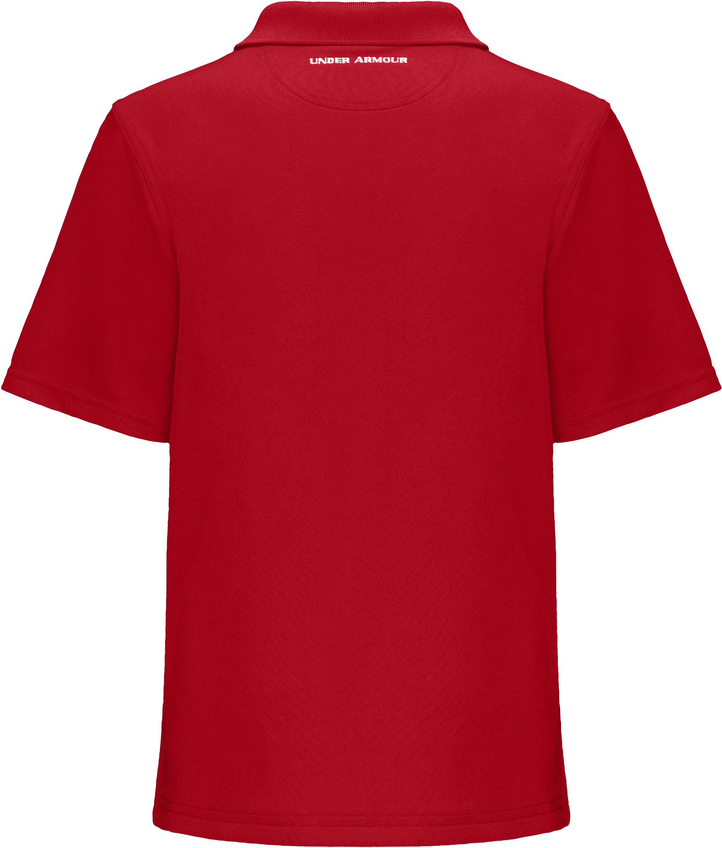Boys' Short Sleeve UA Performance Polo, Red, zoomed image