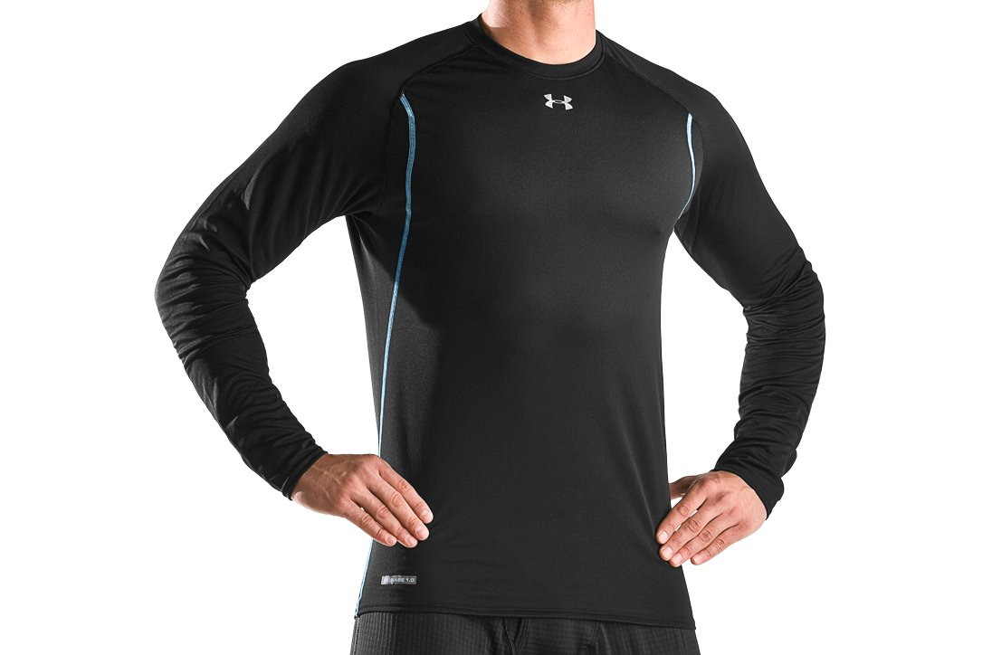 Men's ColdGear® UA Base® 1.0 Long Sleeve Crew, Black