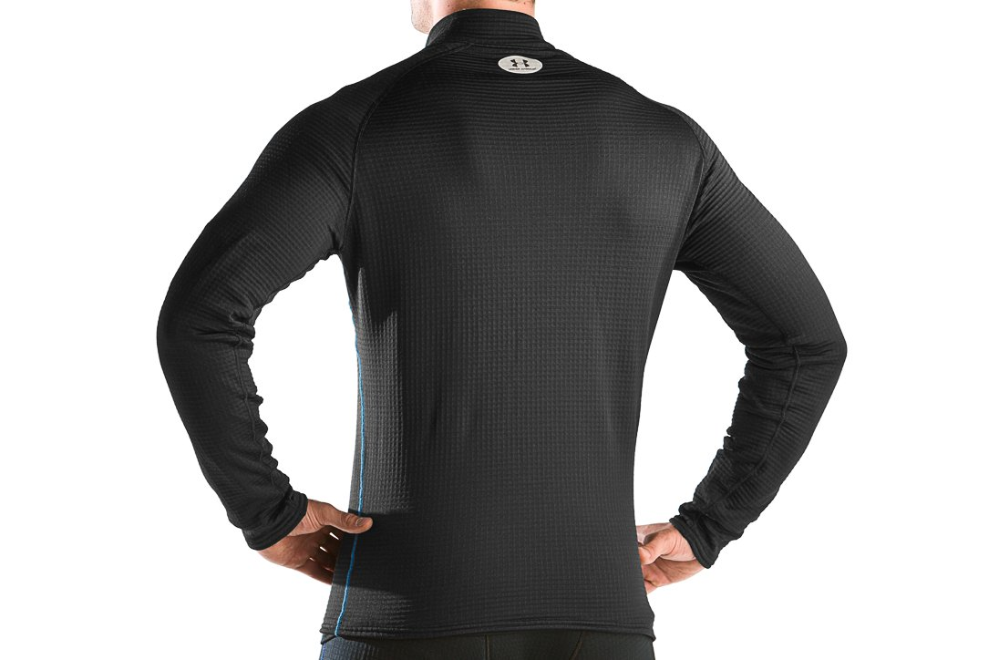Men's ColdGear® UA Base™ 3.0 ¼ Zip Shirt, Black
