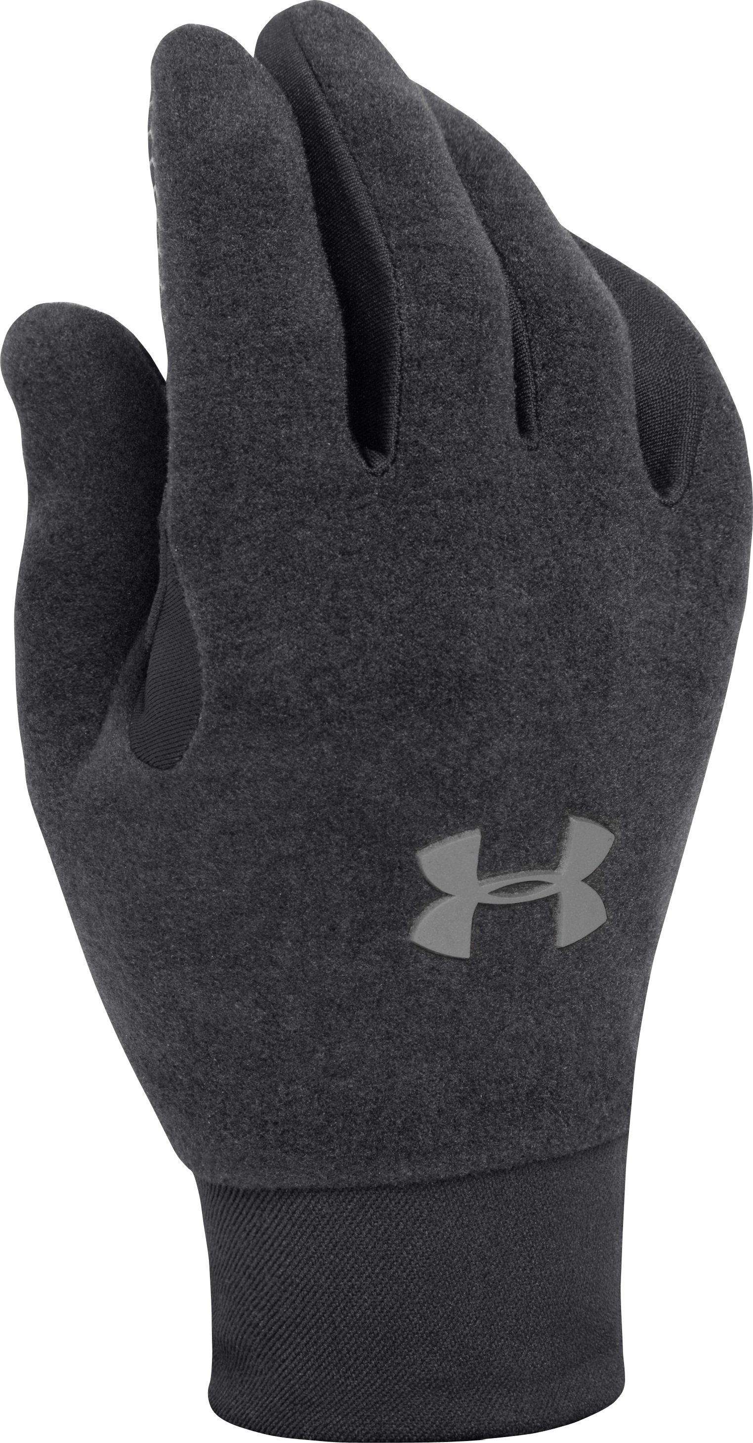 Men's Armour® Stretch Gloves, Black , zoomed image
