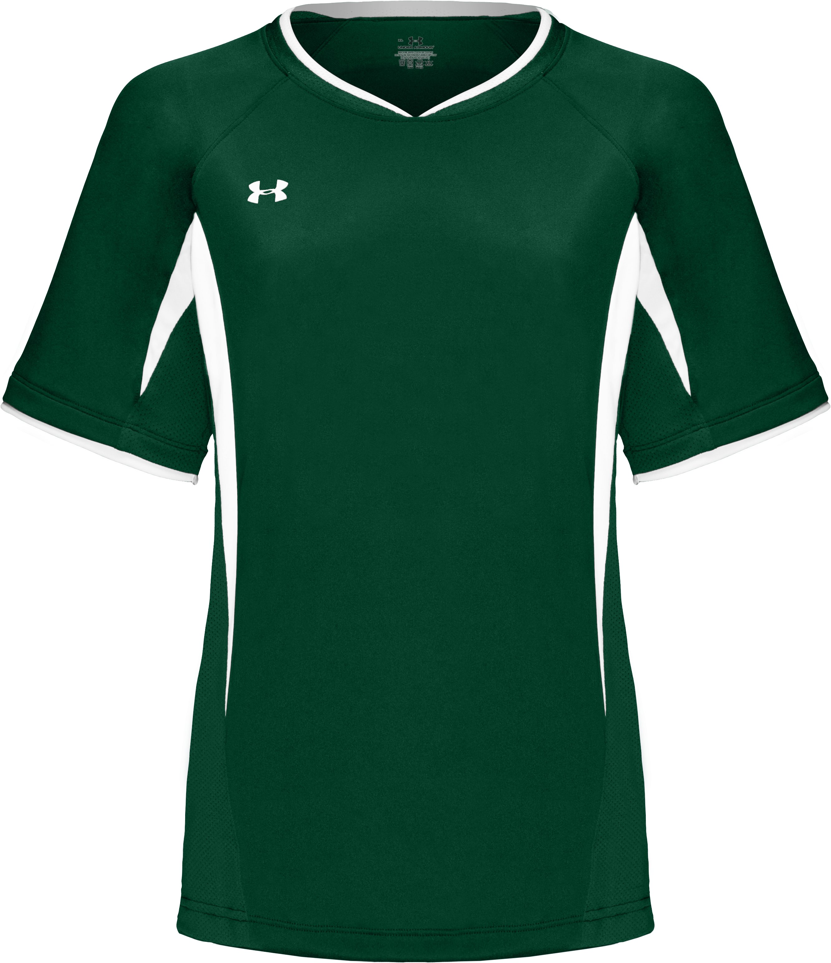 Youth Short Sleeve UA Stealth Jersey, Forest Green