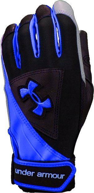 Women's Laser ll Softball Batting Glove, Black , zoomed image