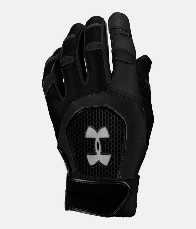 Black leather batting gloves - Men S Cage Iii Batting Glove Black Zoomed Image