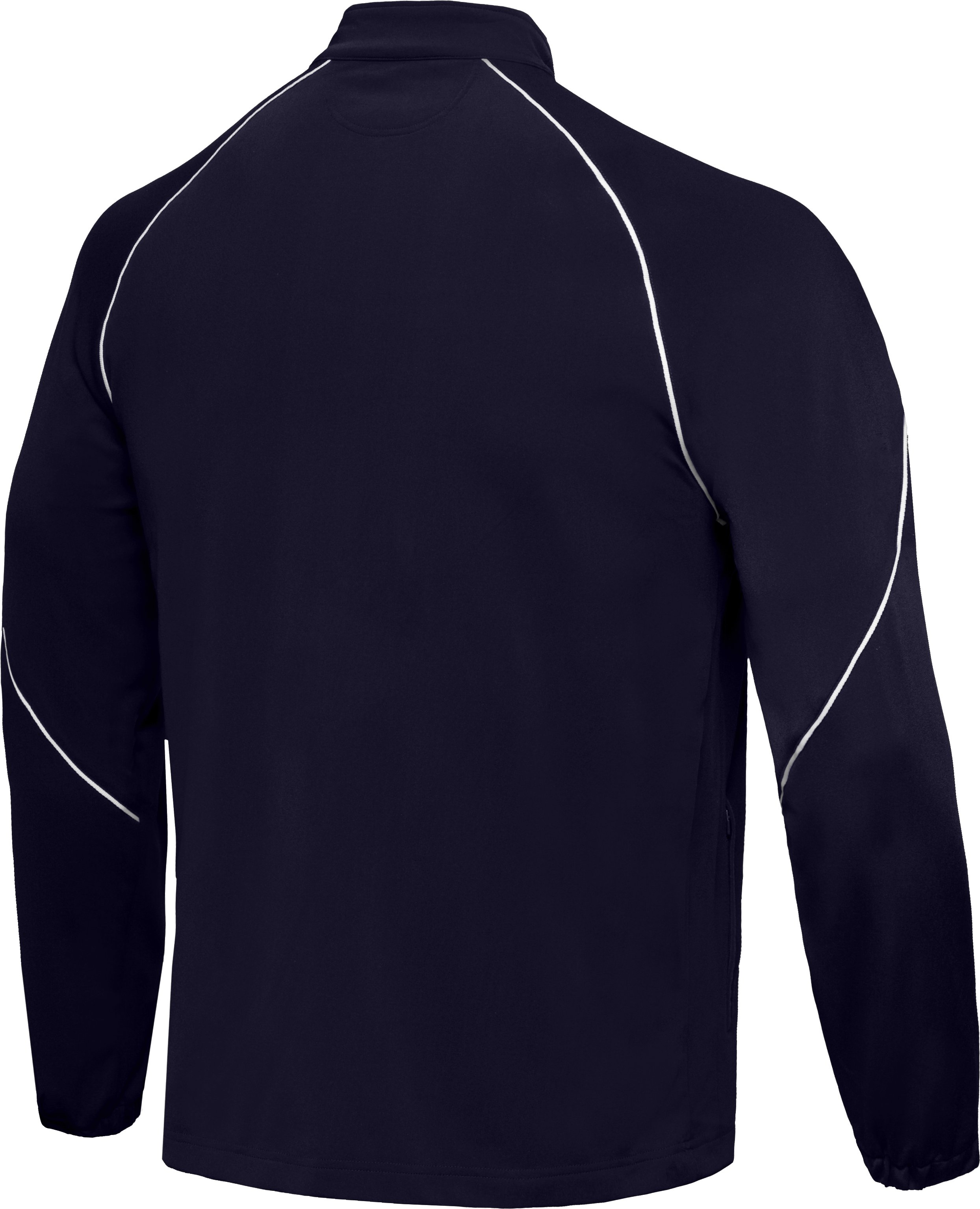 Men's Team Knit Warm-Up Jacket, Midnight Navy, undefined