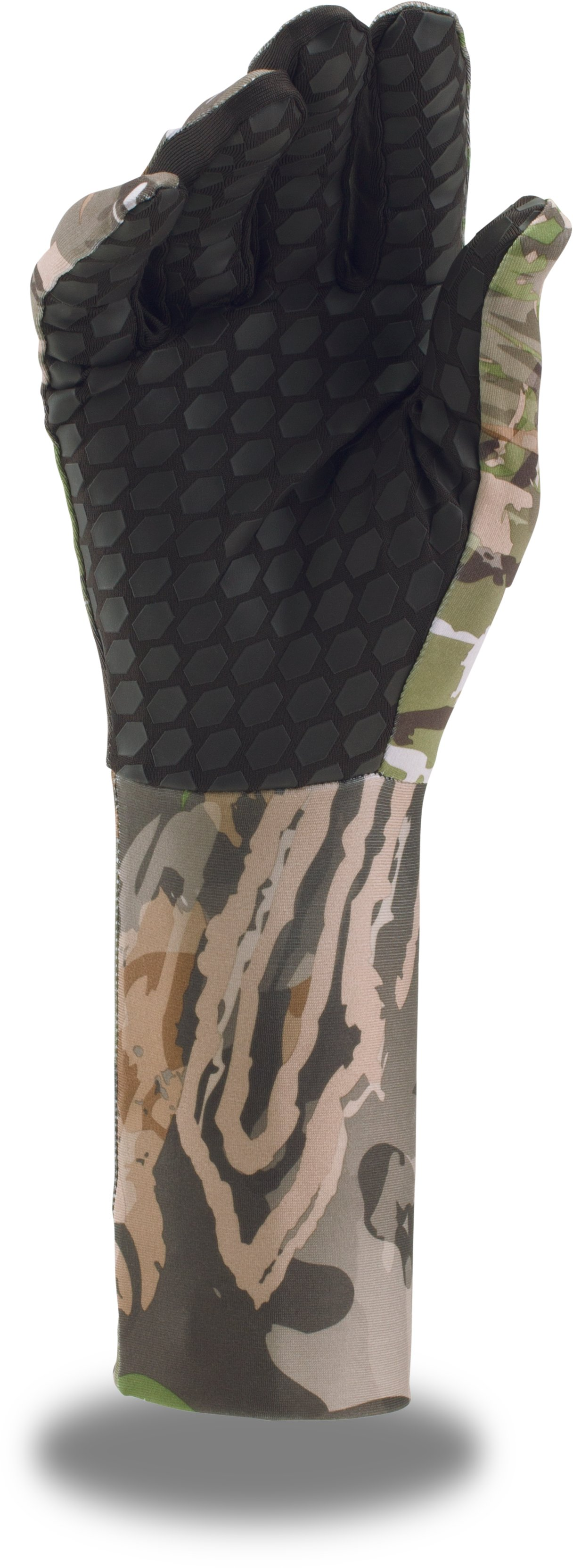 Men's UA ColdGear® Camo Liner Gloves, RIDGE REAPER® FOREST, undefined