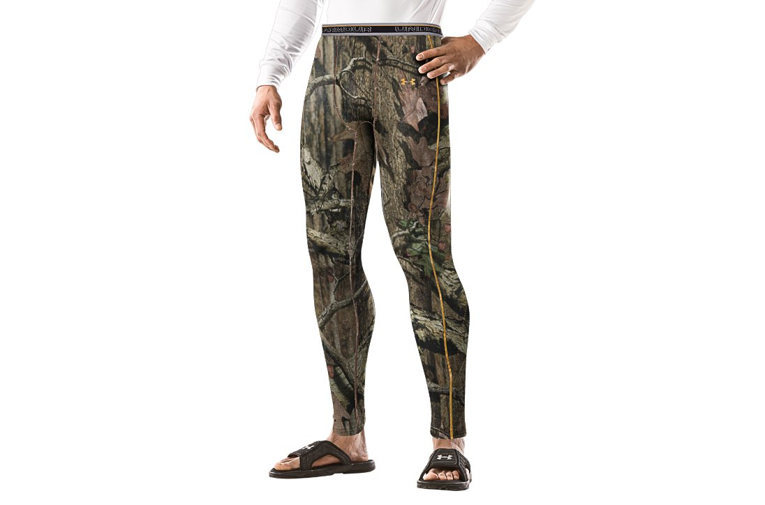 Men's UA Evolution Camo ColdGear® Compression Leggings, Mossy Oak Break-Up Infinity, zoomed image