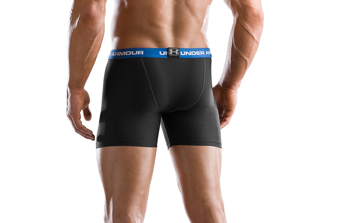 "Men's M Series 6"" Boxerjock® Boxer Briefs, Black"