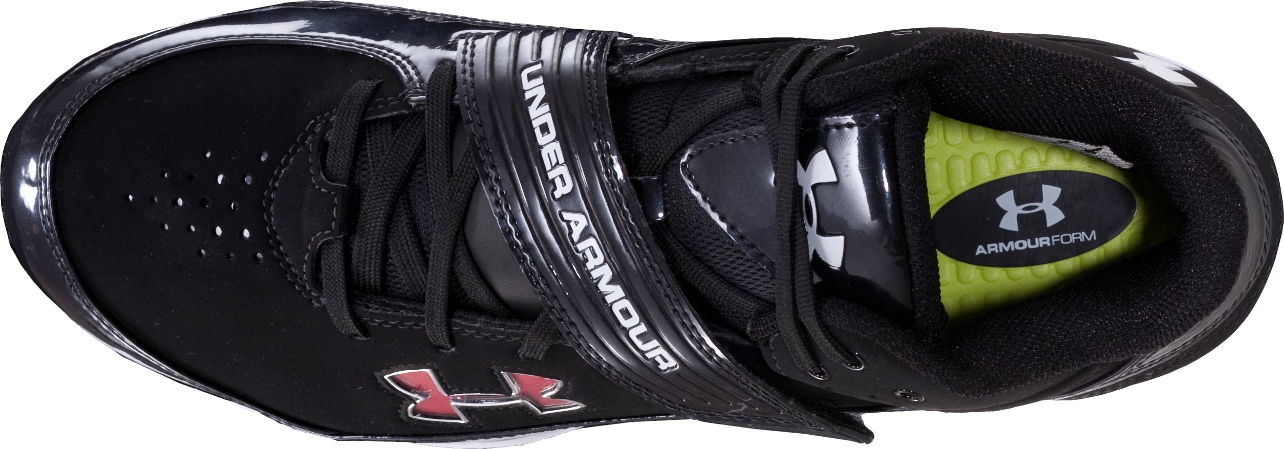 UA Pursuit II Mid D Football Cleats, Black