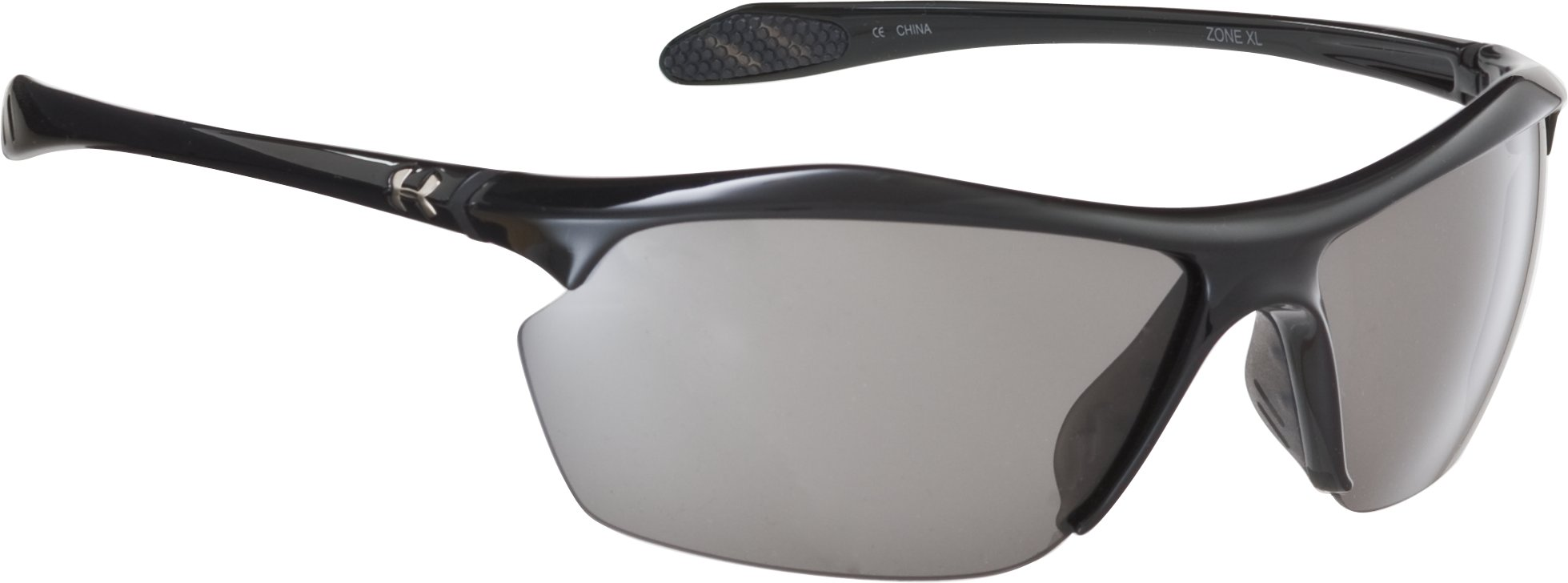 UA Zone XL Polarized Sunglasses, Shiny Black, zoomed image