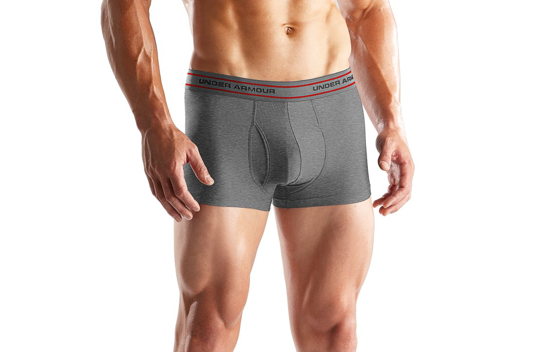 "Men's O Series Boxerjock® 3"" Boxer Briefs, Medium Gray Heather"