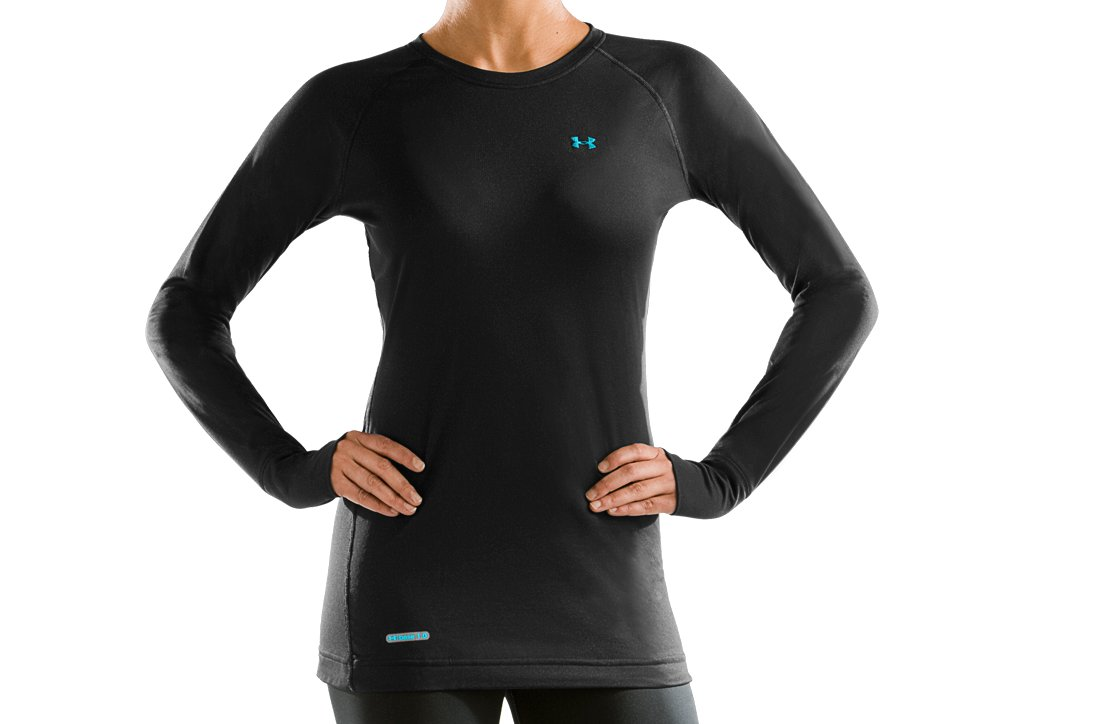 Women's UA Base™ 1.0 Crew, Black