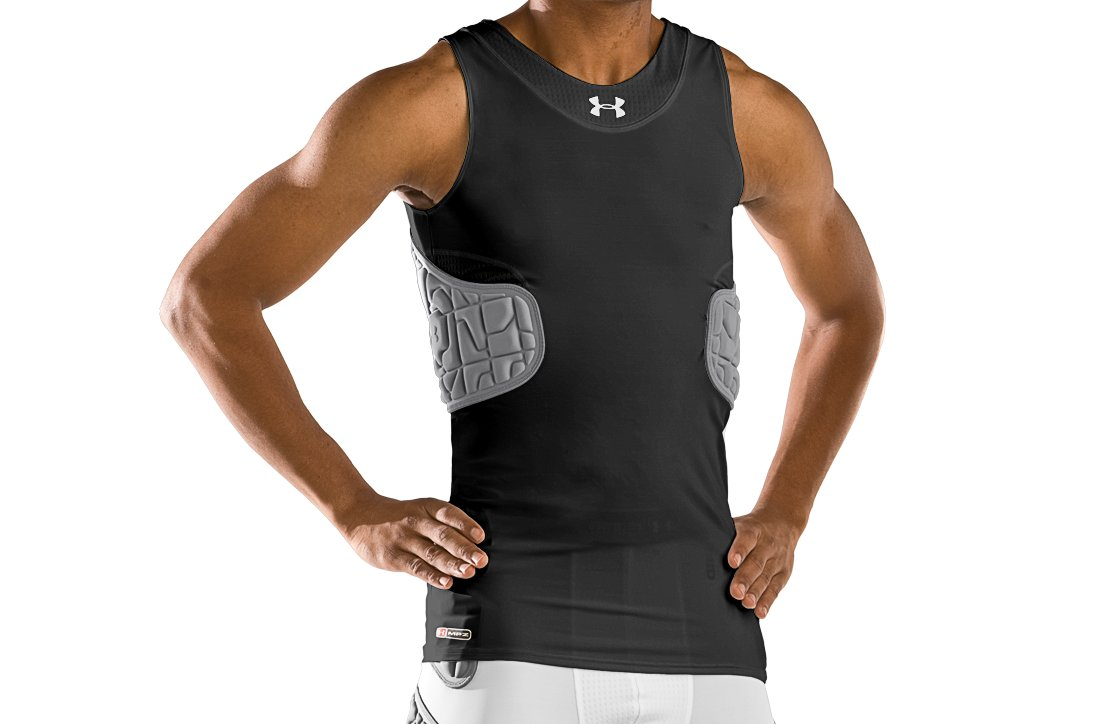 Men's UA MPZ® 2.0 Protector Tank, Black , undefined