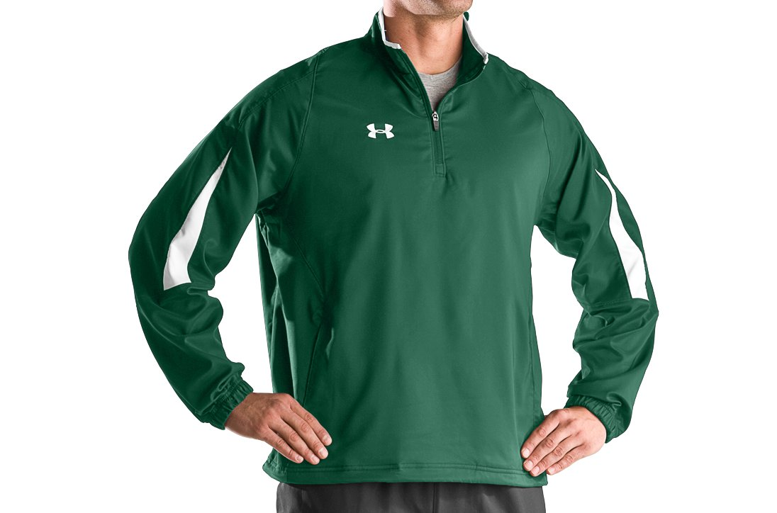 Men's Undeniable® ¼ Zip Jacket, Forest Green, zoomed image