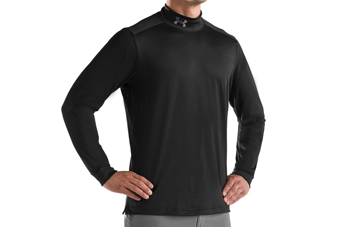 Men's Hammer Long Sleeve Mock, Black , zoomed image