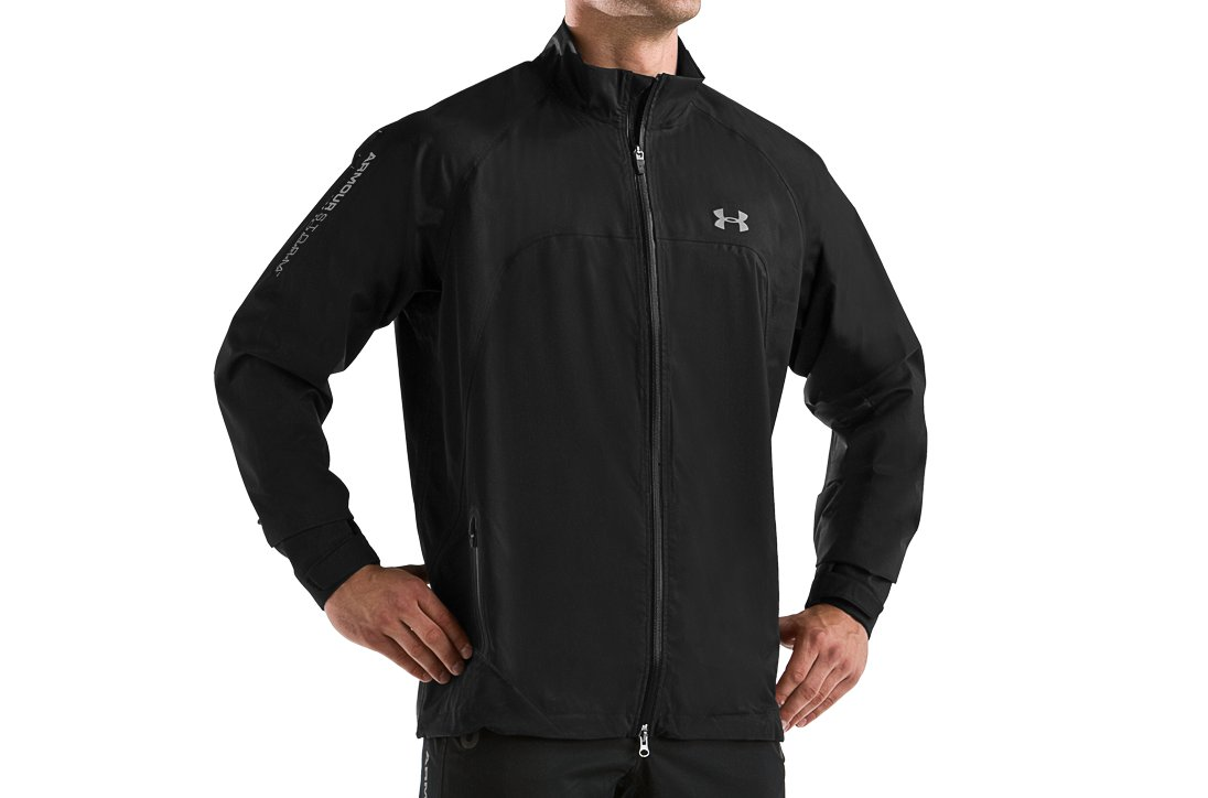 Men's ArmourStorm® Golf Jacket, Black , zoomed image