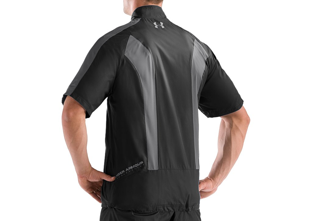 Men's UA Wind Storm Short Sleeve Windshirt, Black