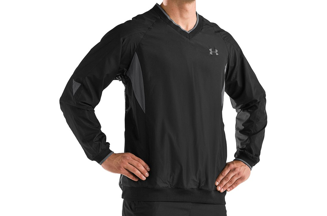Men's UA Wind Storm Windshirt, Black , zoomed image