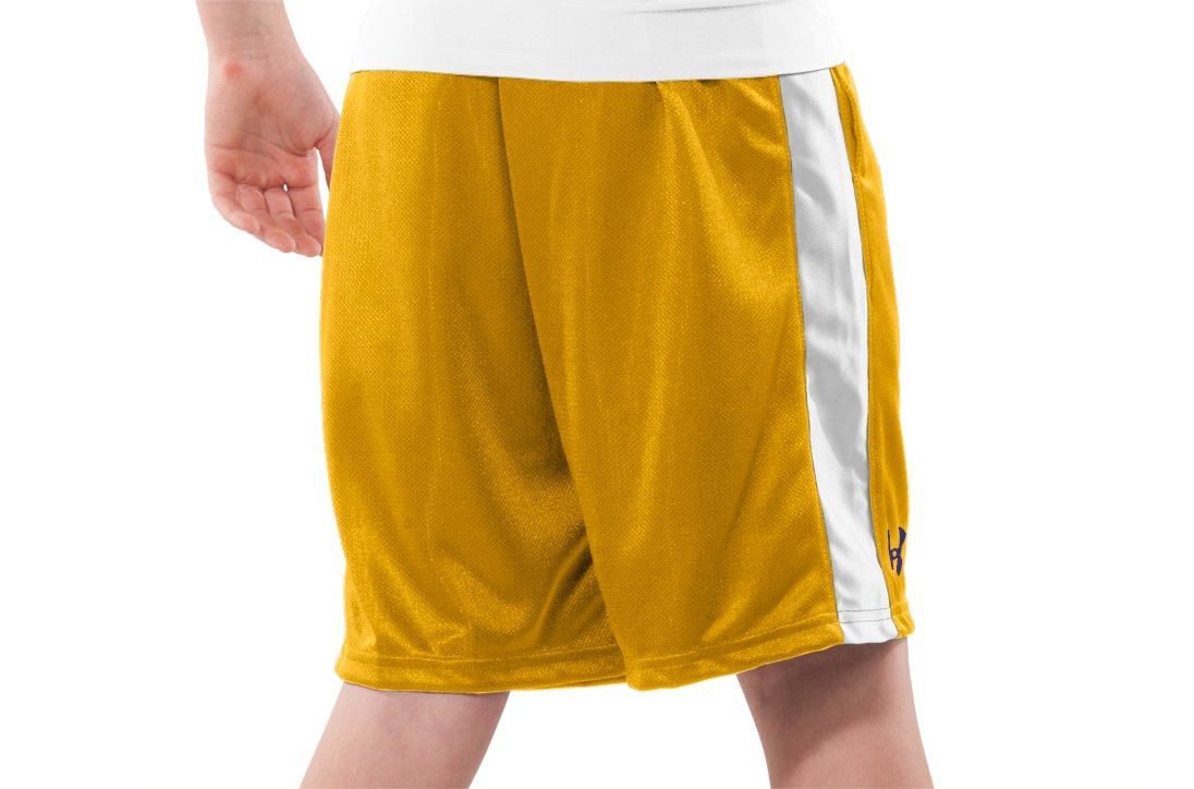 "Boys' UA Ultimate 9"" Shorts, Maize, zoomed image"