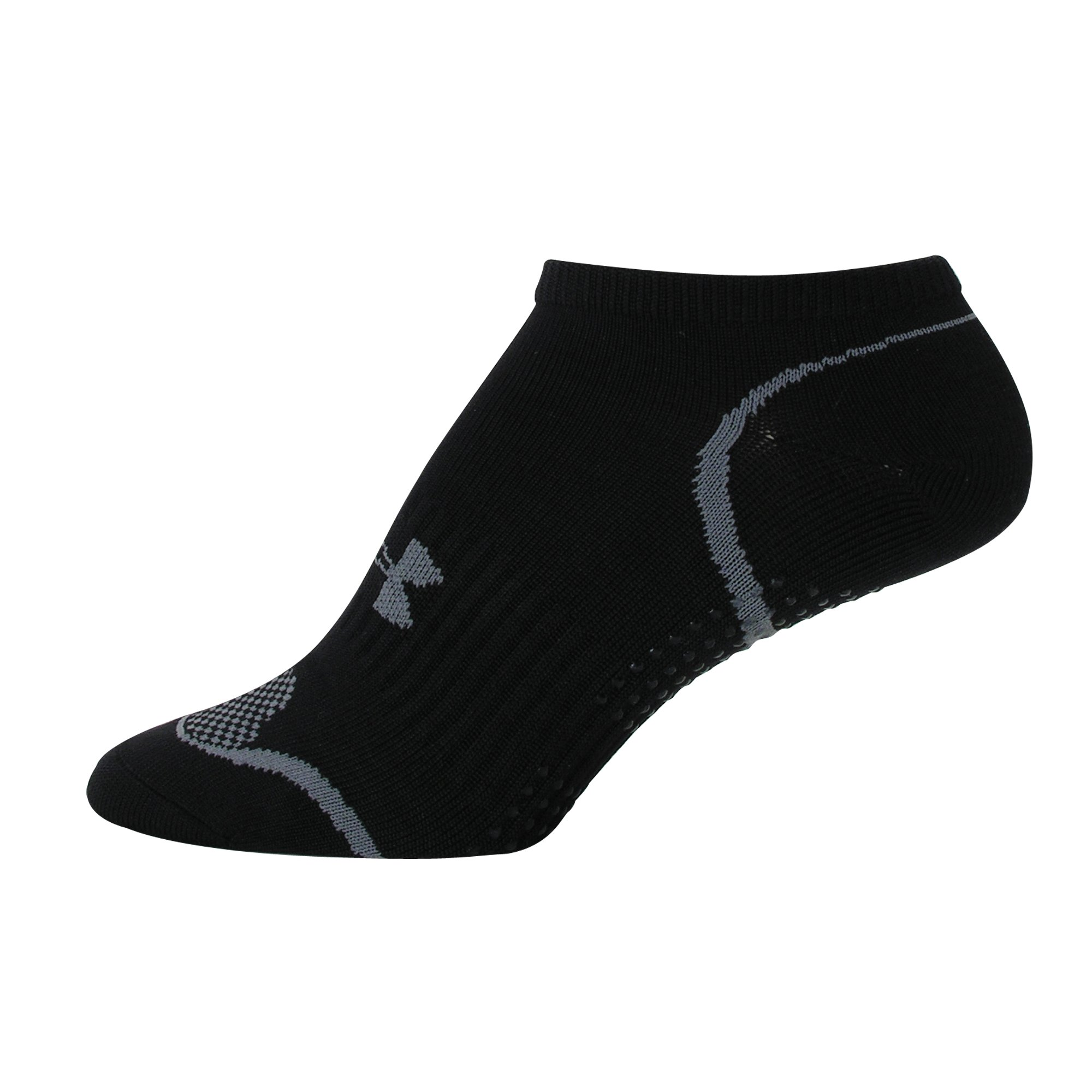 Women's Grippy II No Show Socks, Black , zoomed image