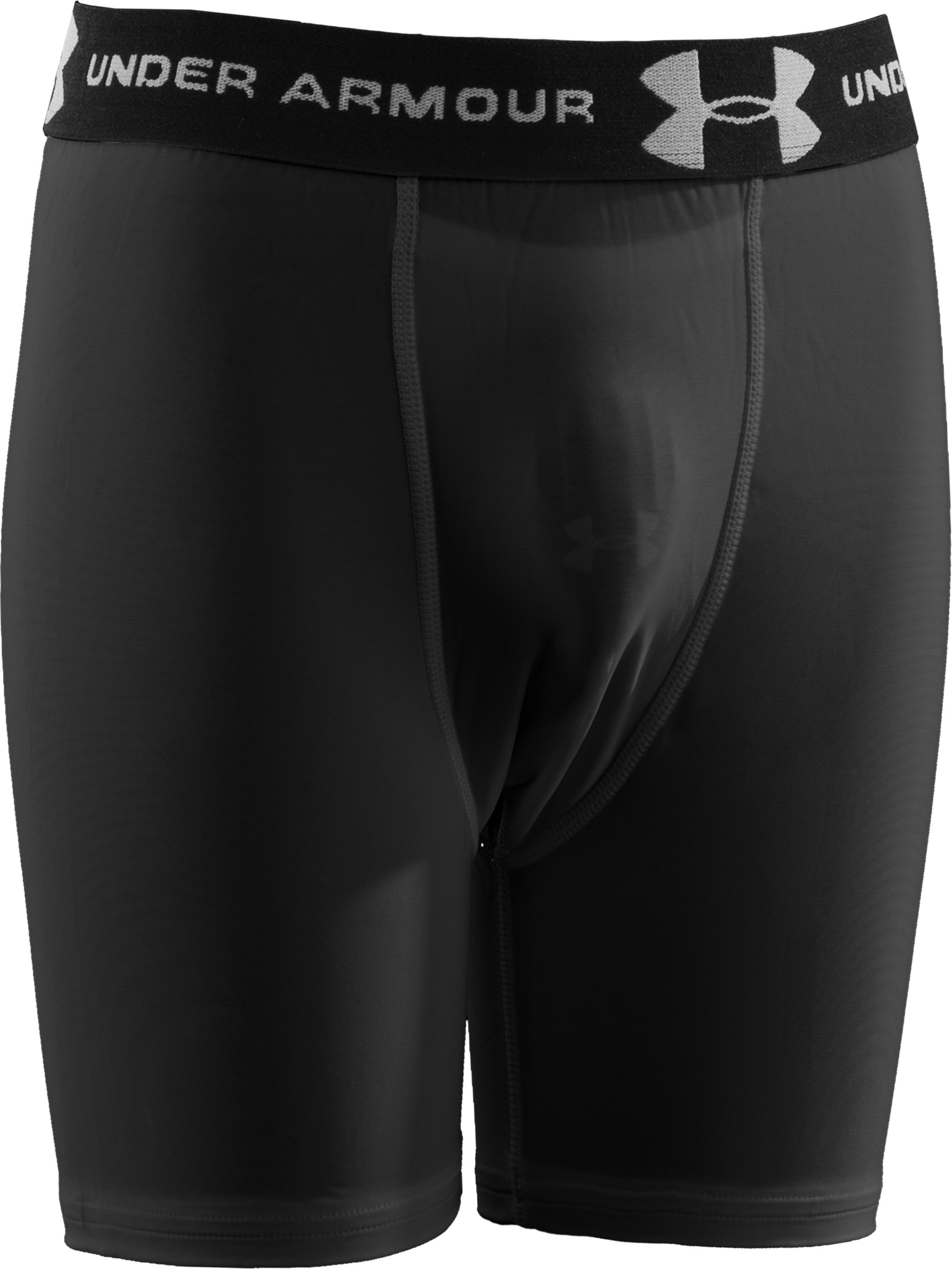 Boys' Compression Shorts with Cup, Black
