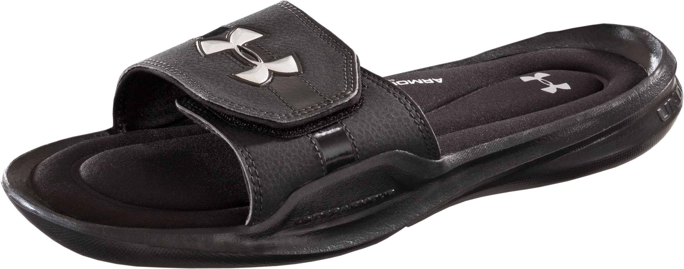 Men's UA Ignite II Slides, Black , zoomed image