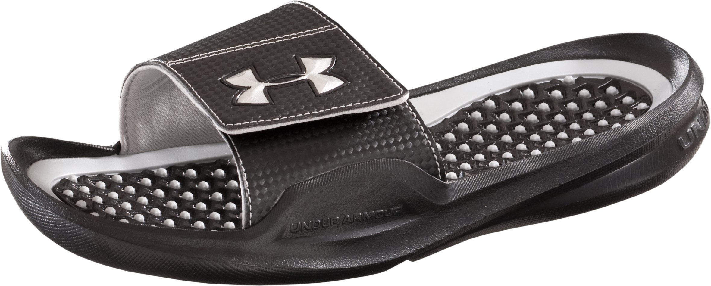 Men's UA Playmaker II Slides, Black , zoomed image