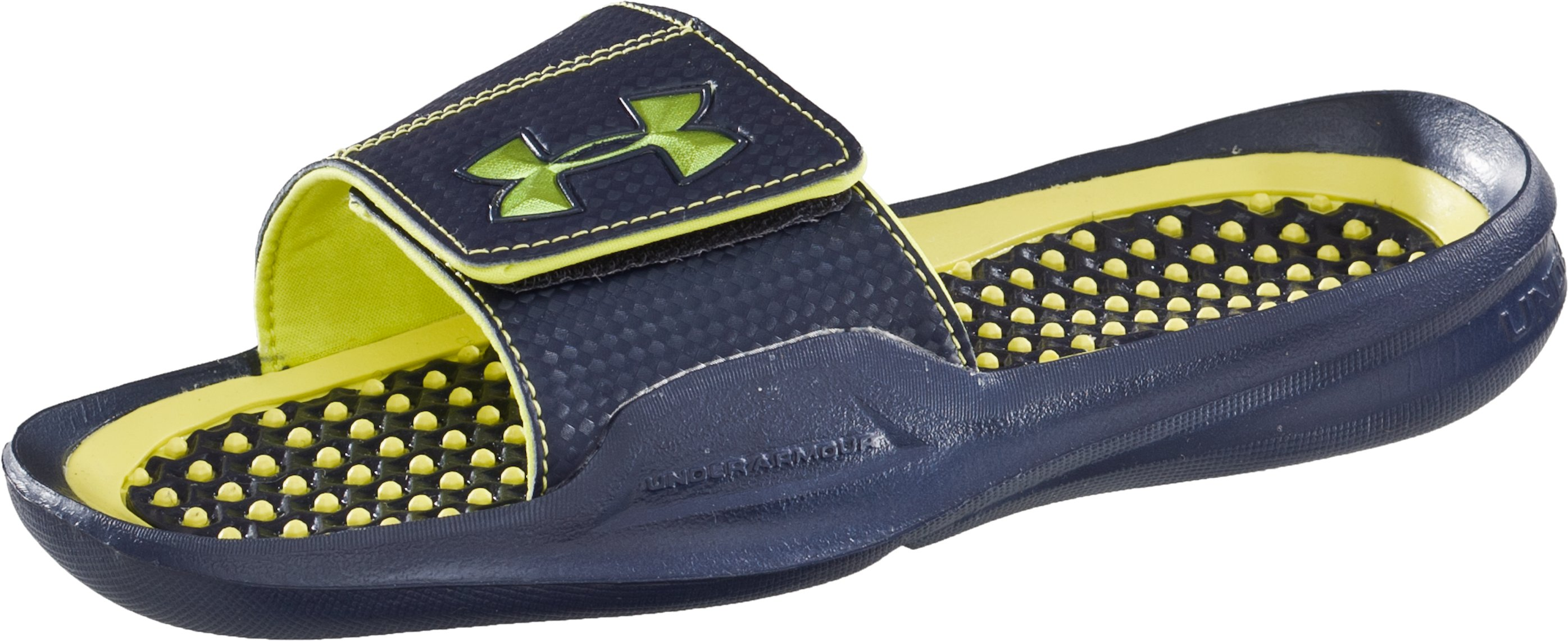 Boys' UA Playmaker II Slides, Midnight Navy