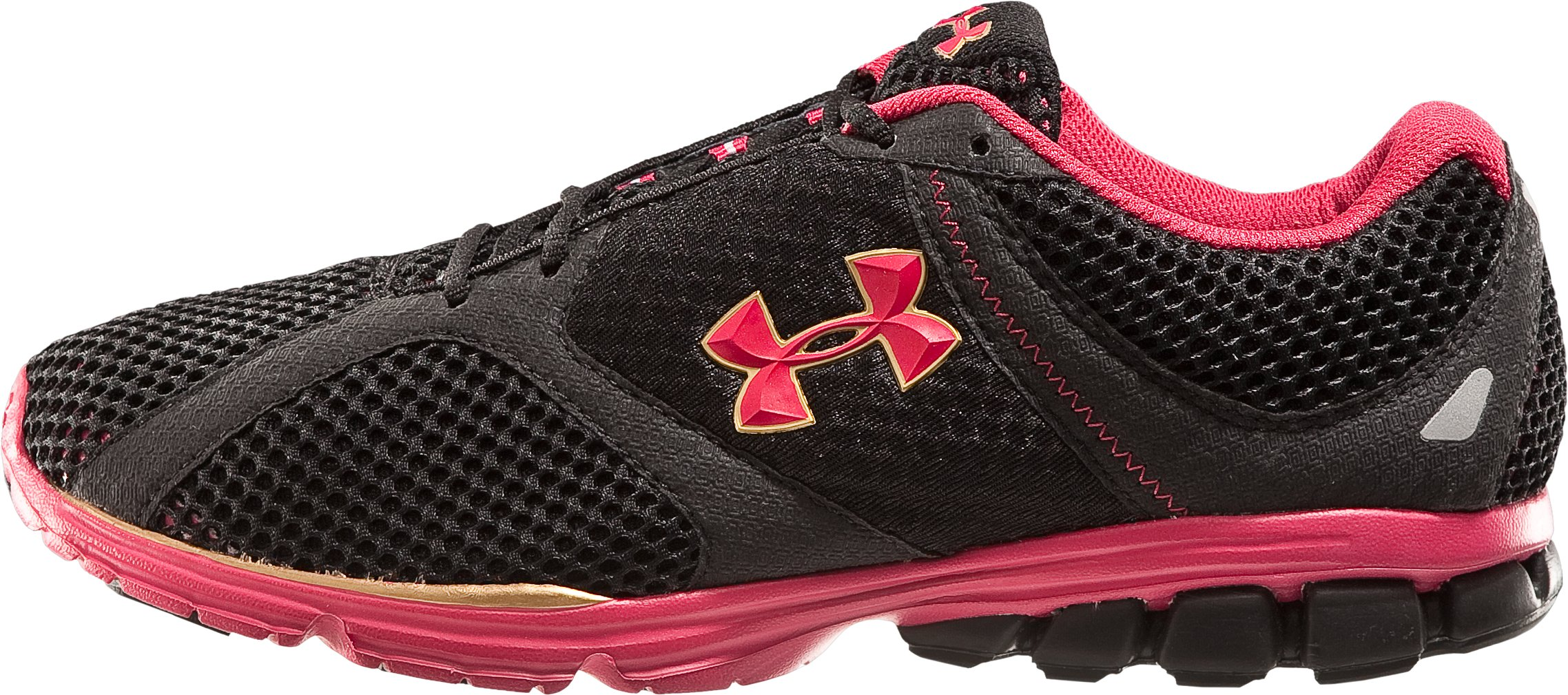 Women's UA Assert Running Shoes, Black , zoomed image