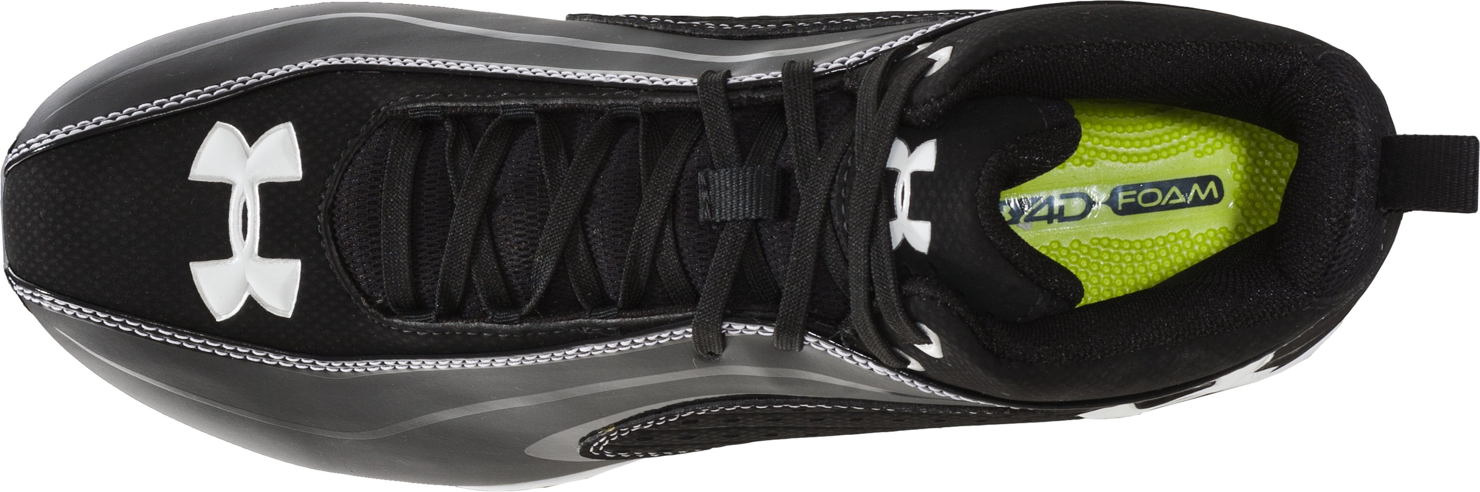 Men's UA Pursuit III Mid D Football Cleats, Black
