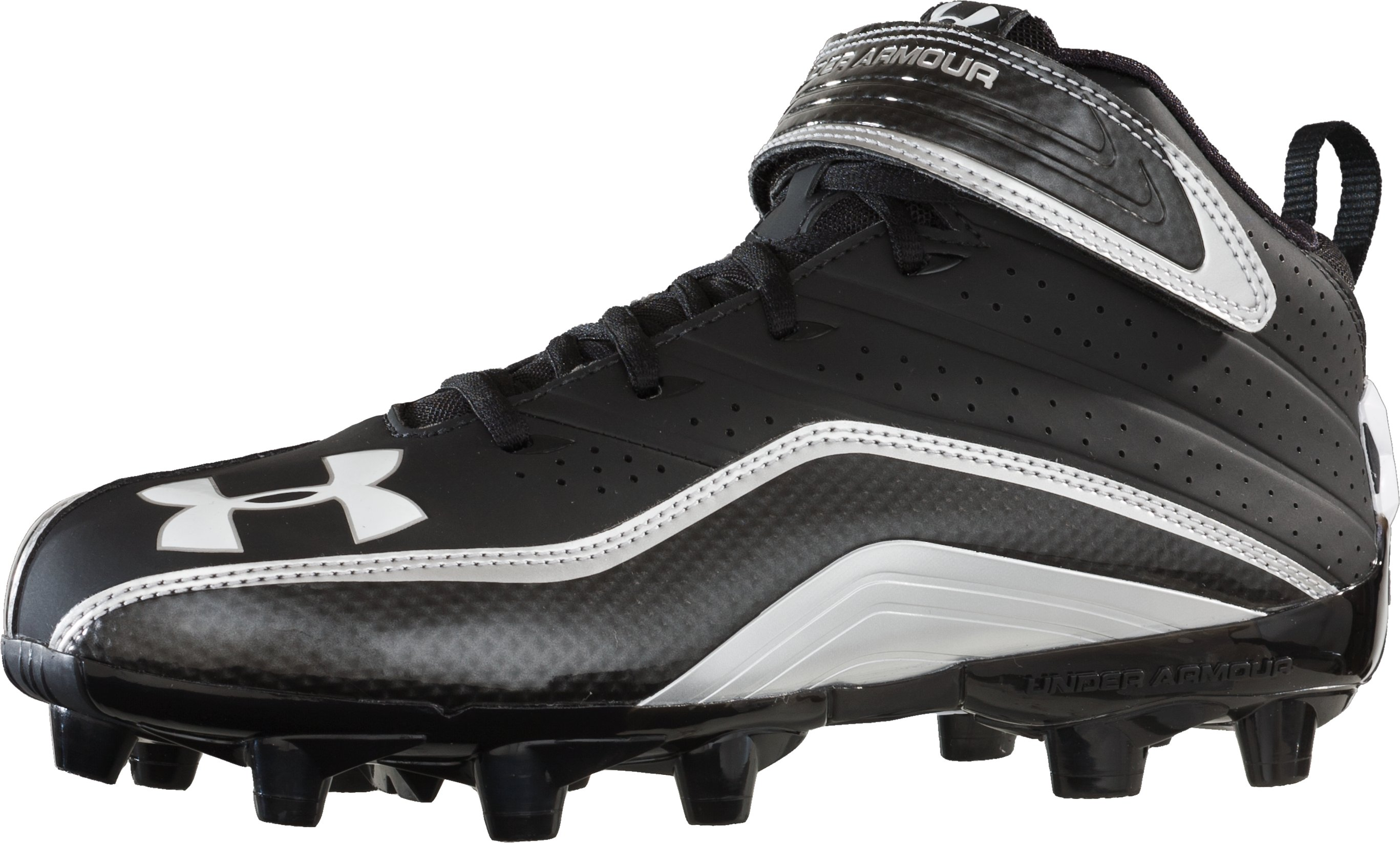 Men's UA Fierce III Mid MC Football Cleat, Black , zoomed image
