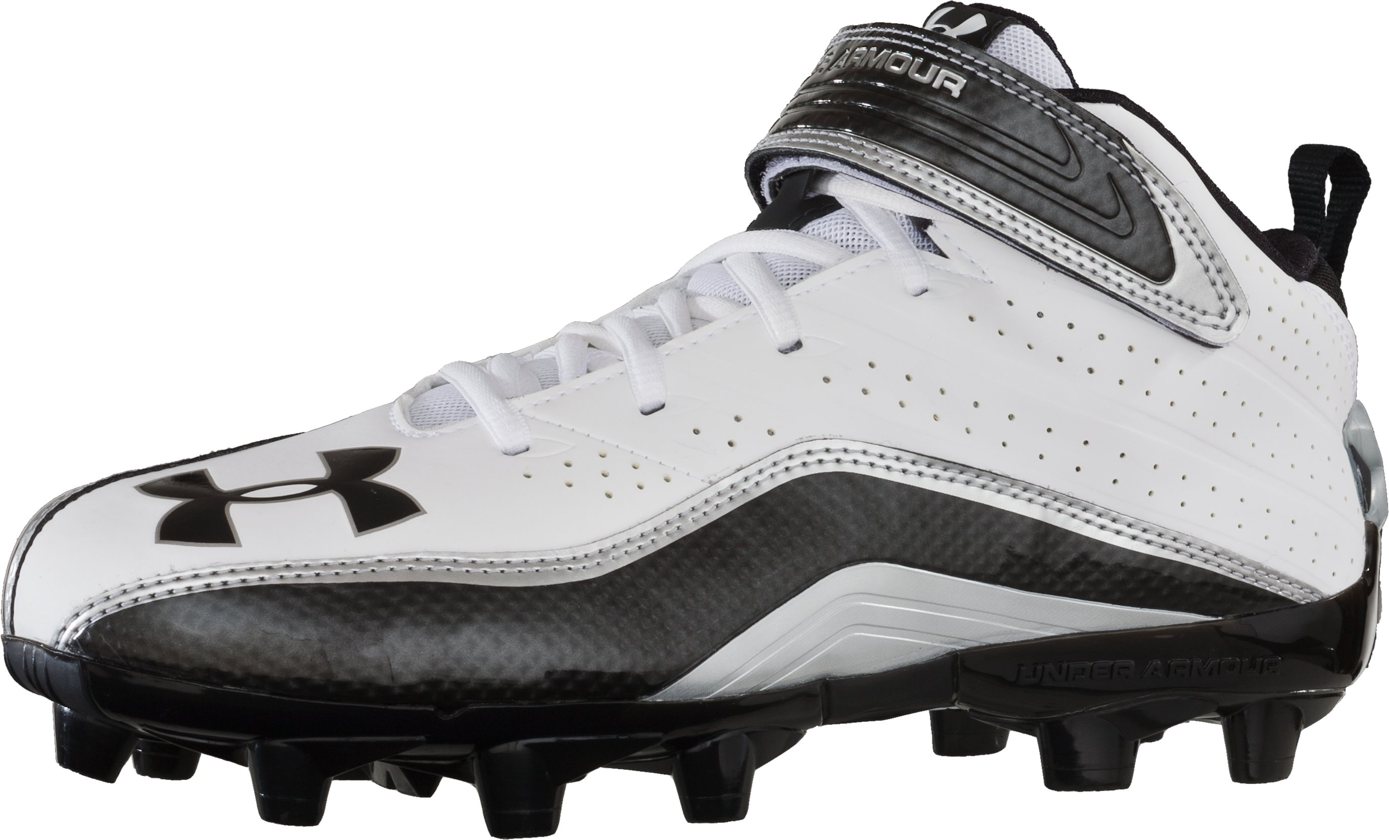 Men's UA Fierce III Mid MC Football Cleat, White