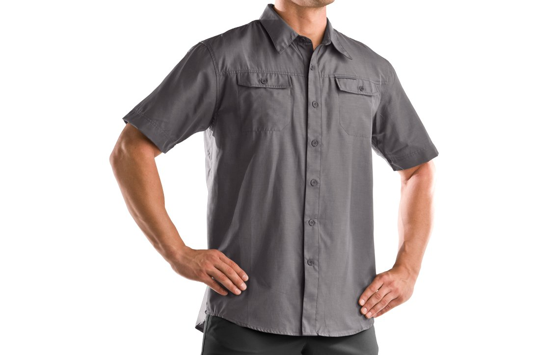 Men's Bocca Solid Short Sleeve Shirt, Storm