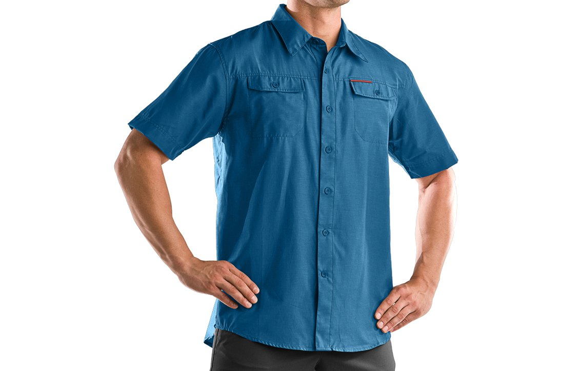 Men's Bocca Solid Short Sleeve Shirt, Acadia, zoomed image