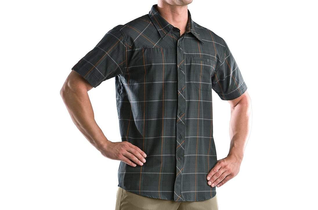 Men's Bocca Plaid Short Sleeve, Black