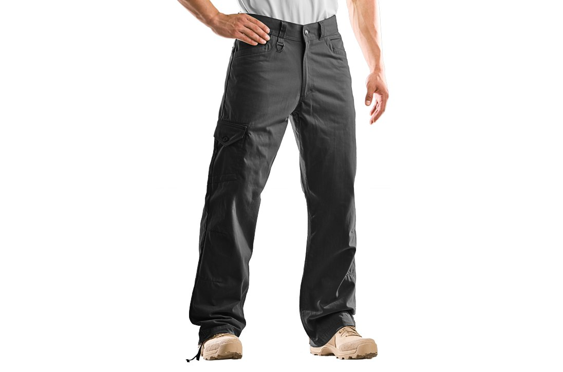 Men's UA Tactical Utility Pants, Black , zoomed image
