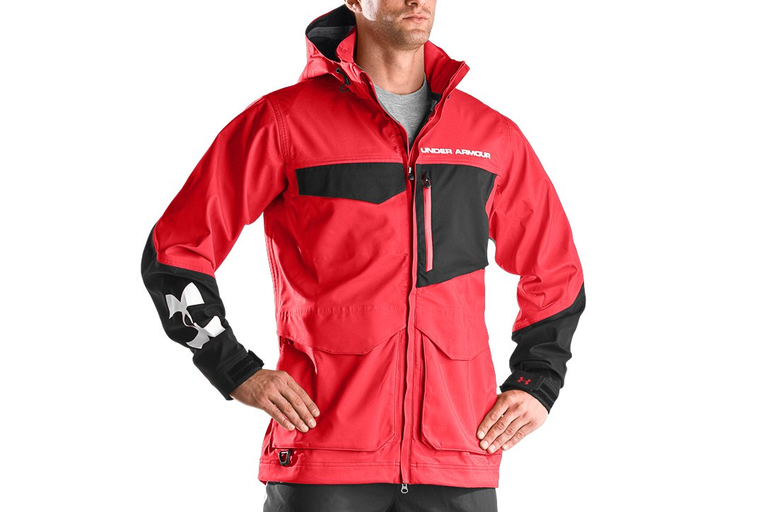 Men's Full Throttle Fishing Parka, University Red,