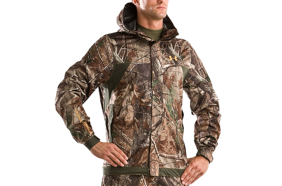 Men's UA Armour™ Stealth Hunting Rain Jacket, Realtree AP, zoomed image