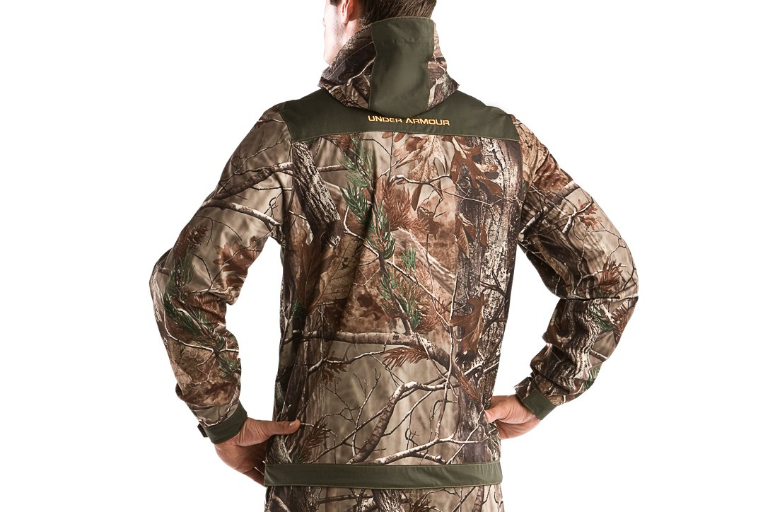 Men's UA Armour™ Stealth Hunting Rain Jacket, Realtree AP, undefined