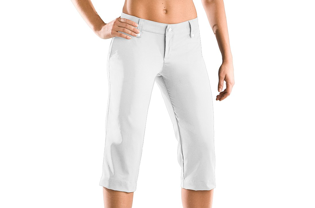 Women's UA Core Solid Capri, White