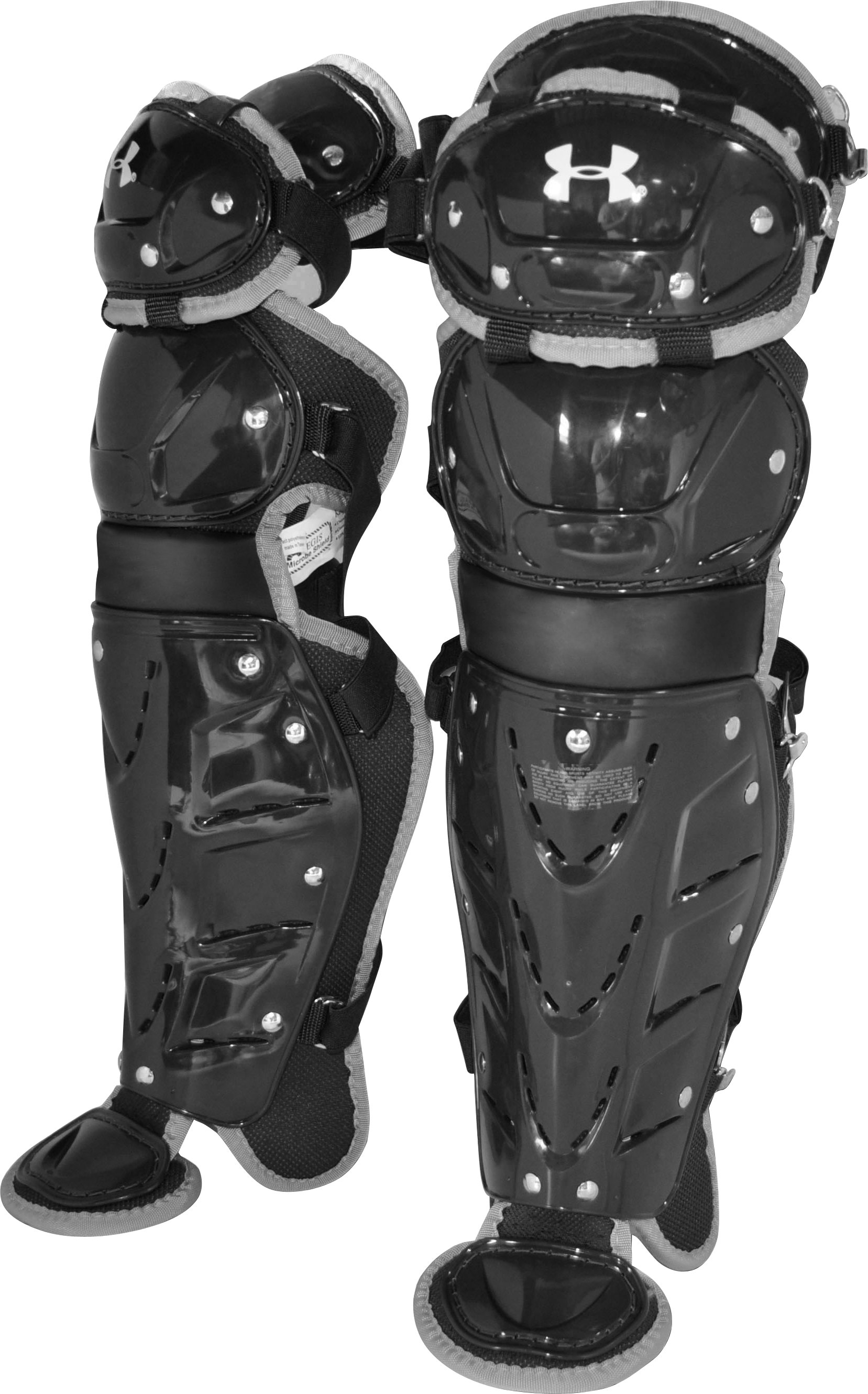 Men's Pro Catcher's Leg Guards, Black , zoomed image