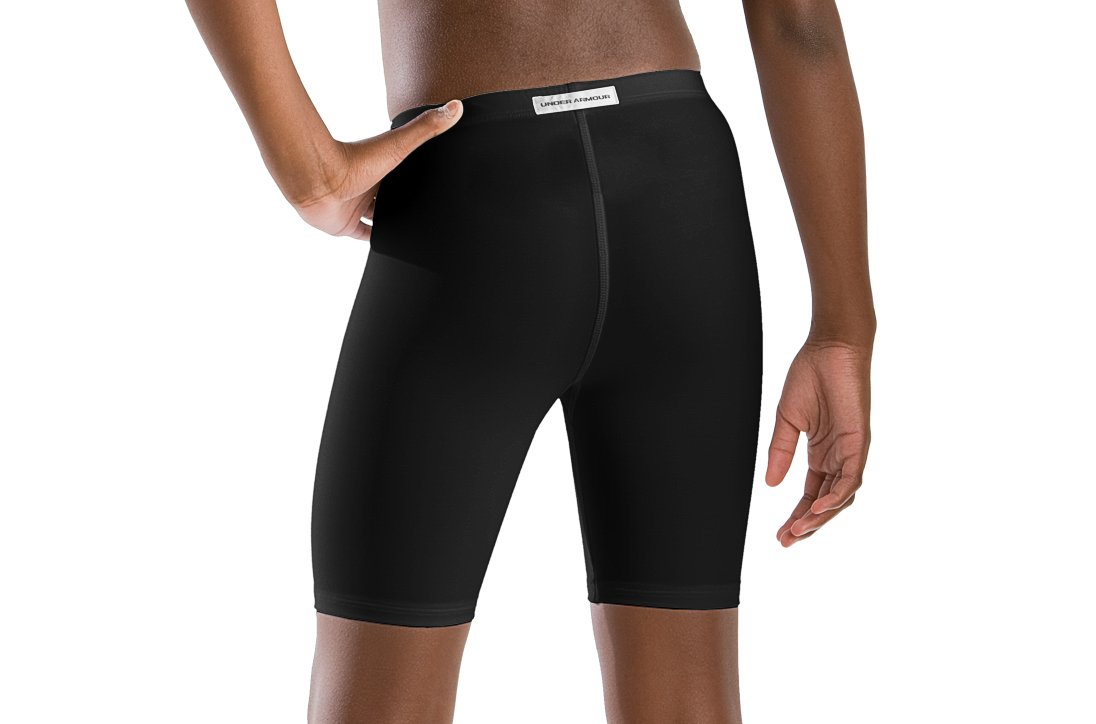 "Girls' 5"" Compression Shorts, Black"