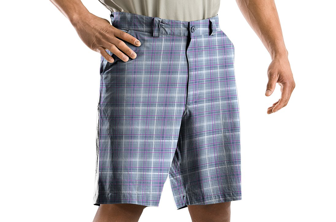 Men's Performance Plaid Shorts, Wire