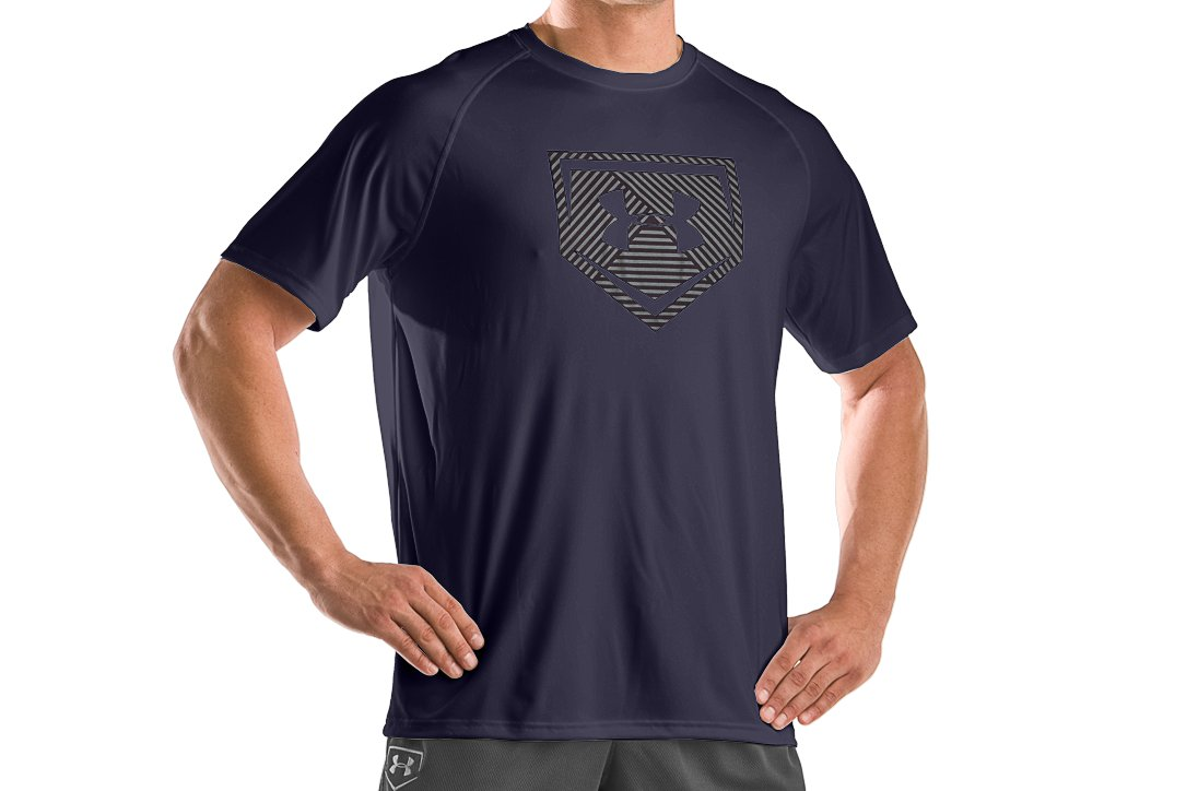 Men's UA Cage To Game Graphic T, Midnight Navy