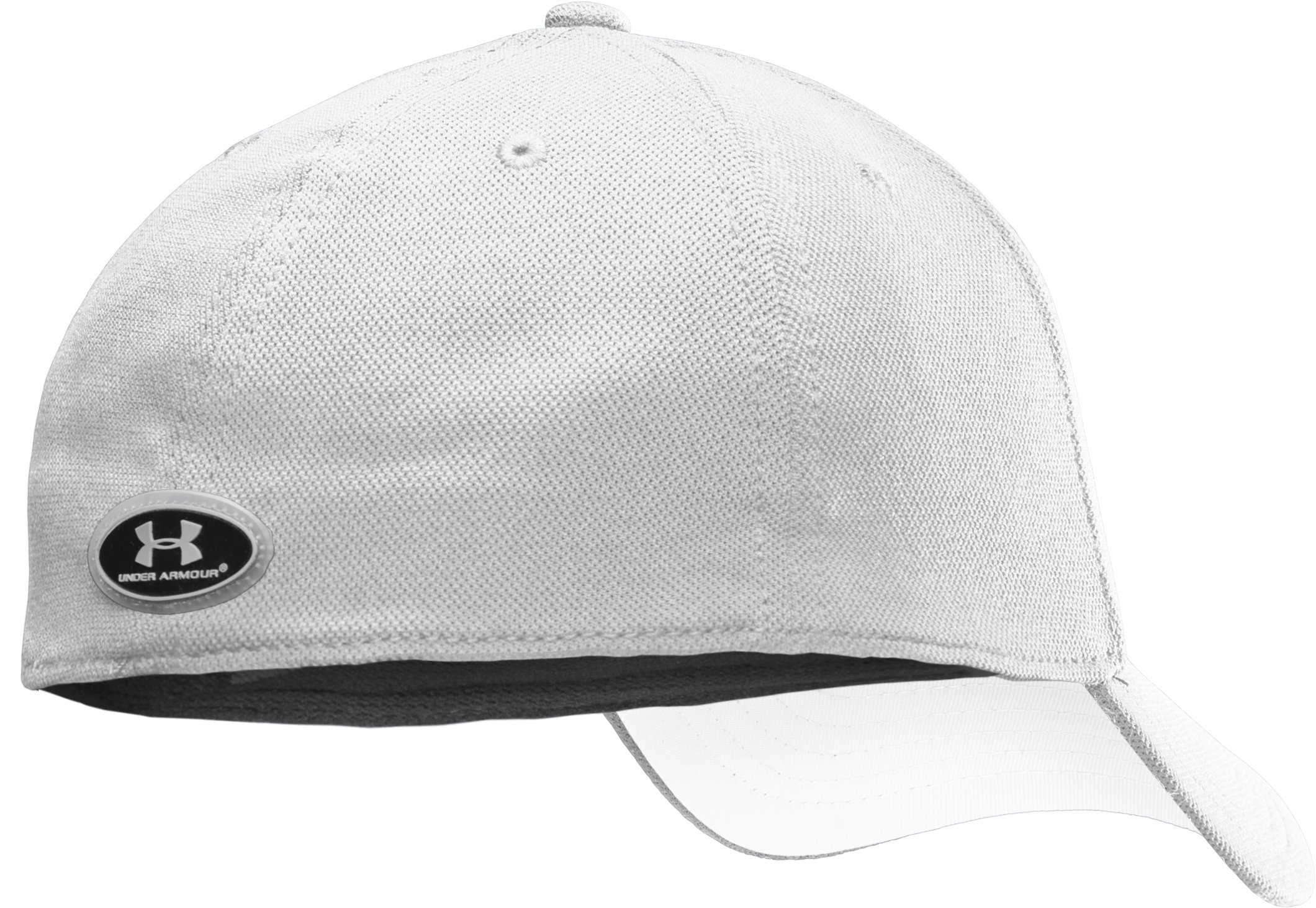 Men's Armour® Stretch Fit Cap, White
