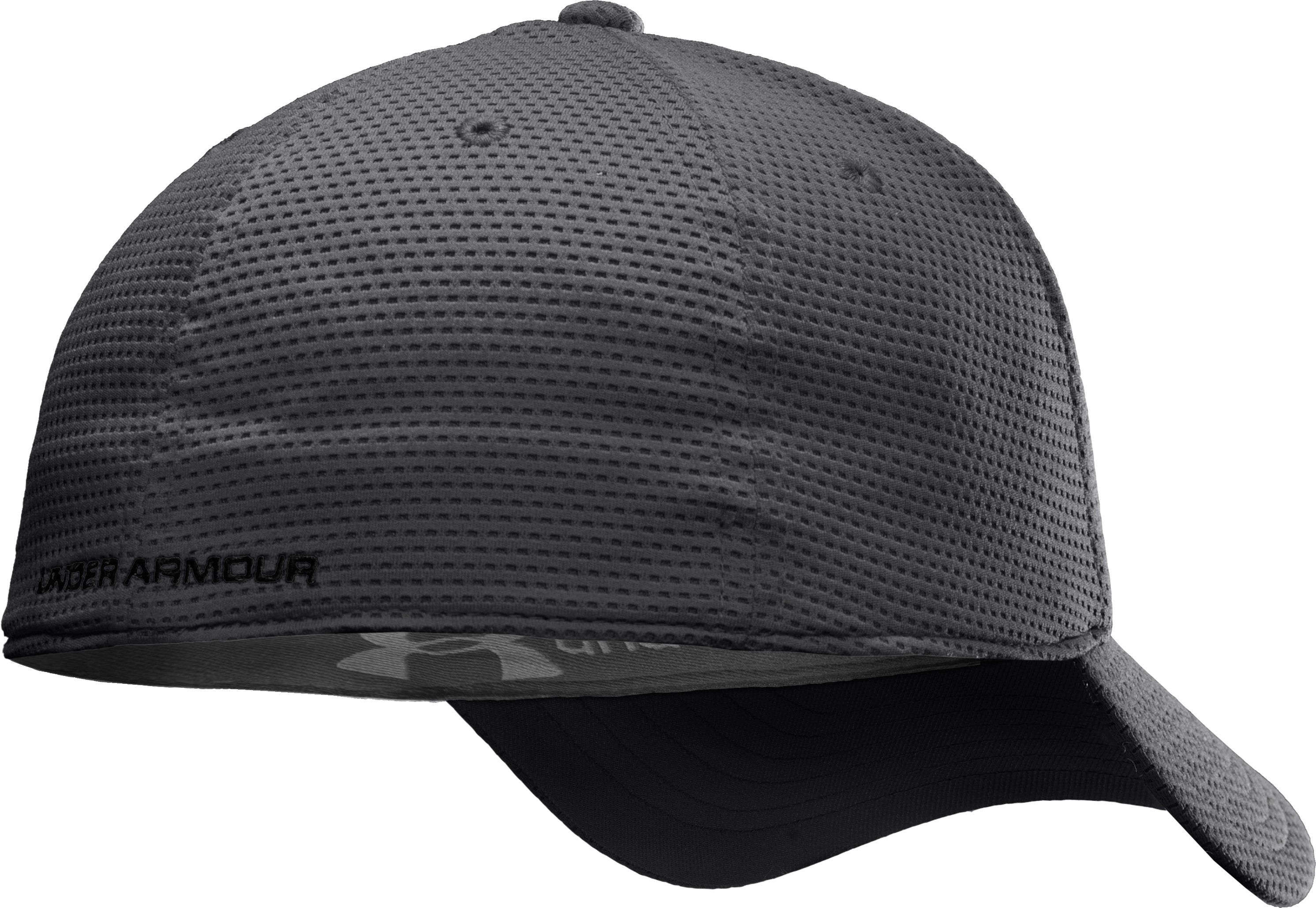 Men's UA Blitzing Stretch Fit Cap, Graphite