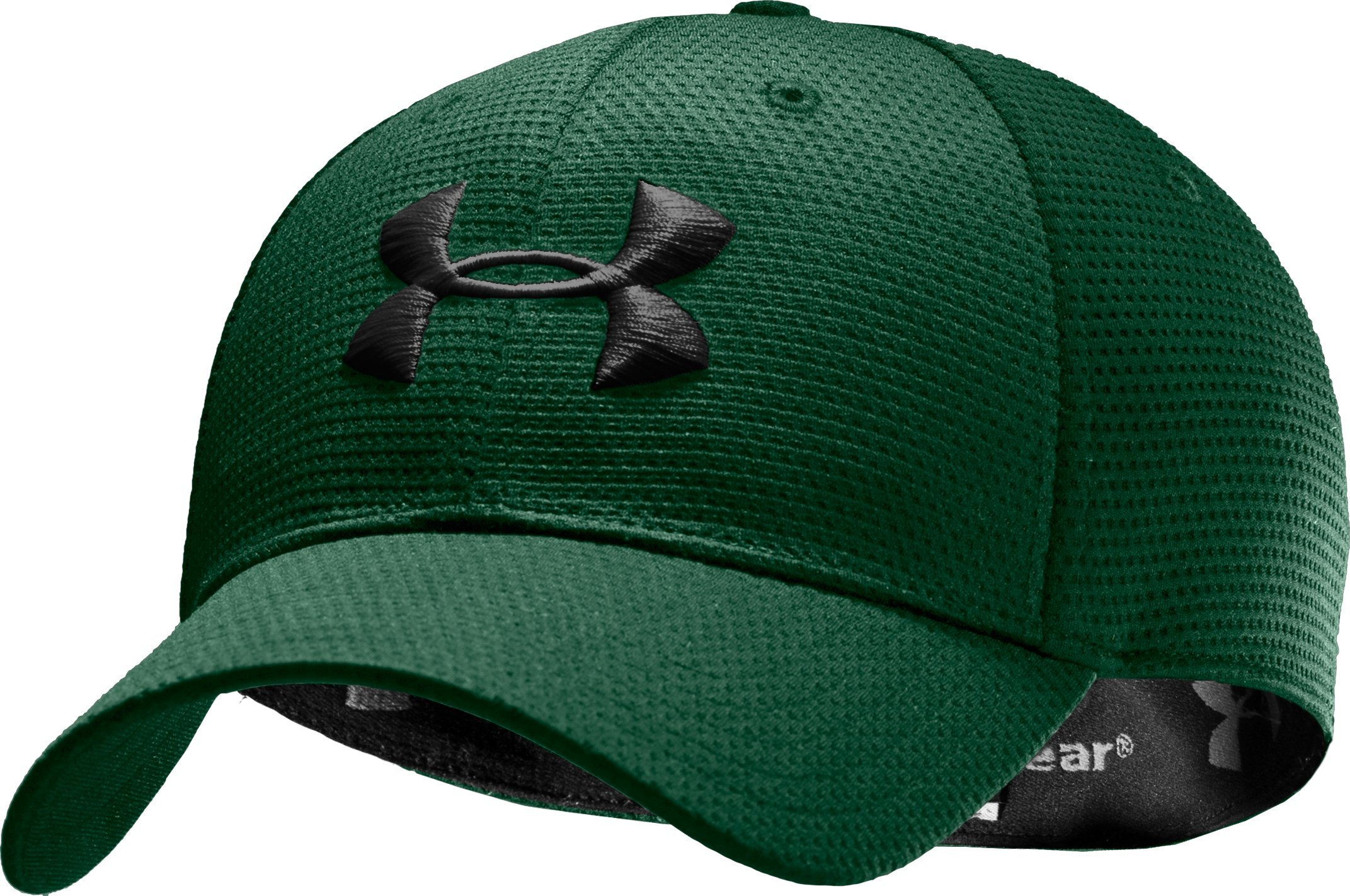 Men's UA Blitzing Stretch Fit Cap, Forest Green, undefined