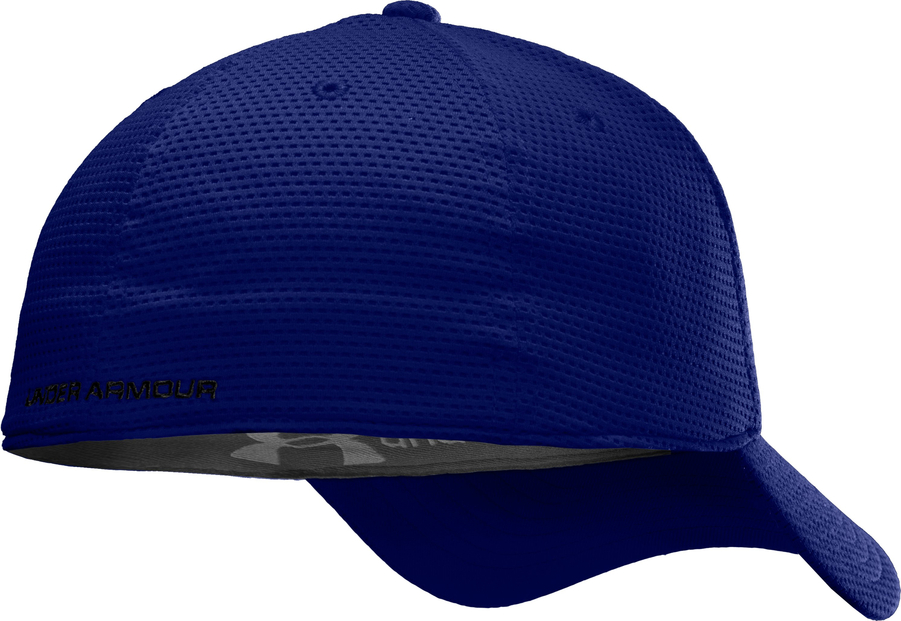 Men's UA Blitzing Stretch Fit Cap, Royal, undefined