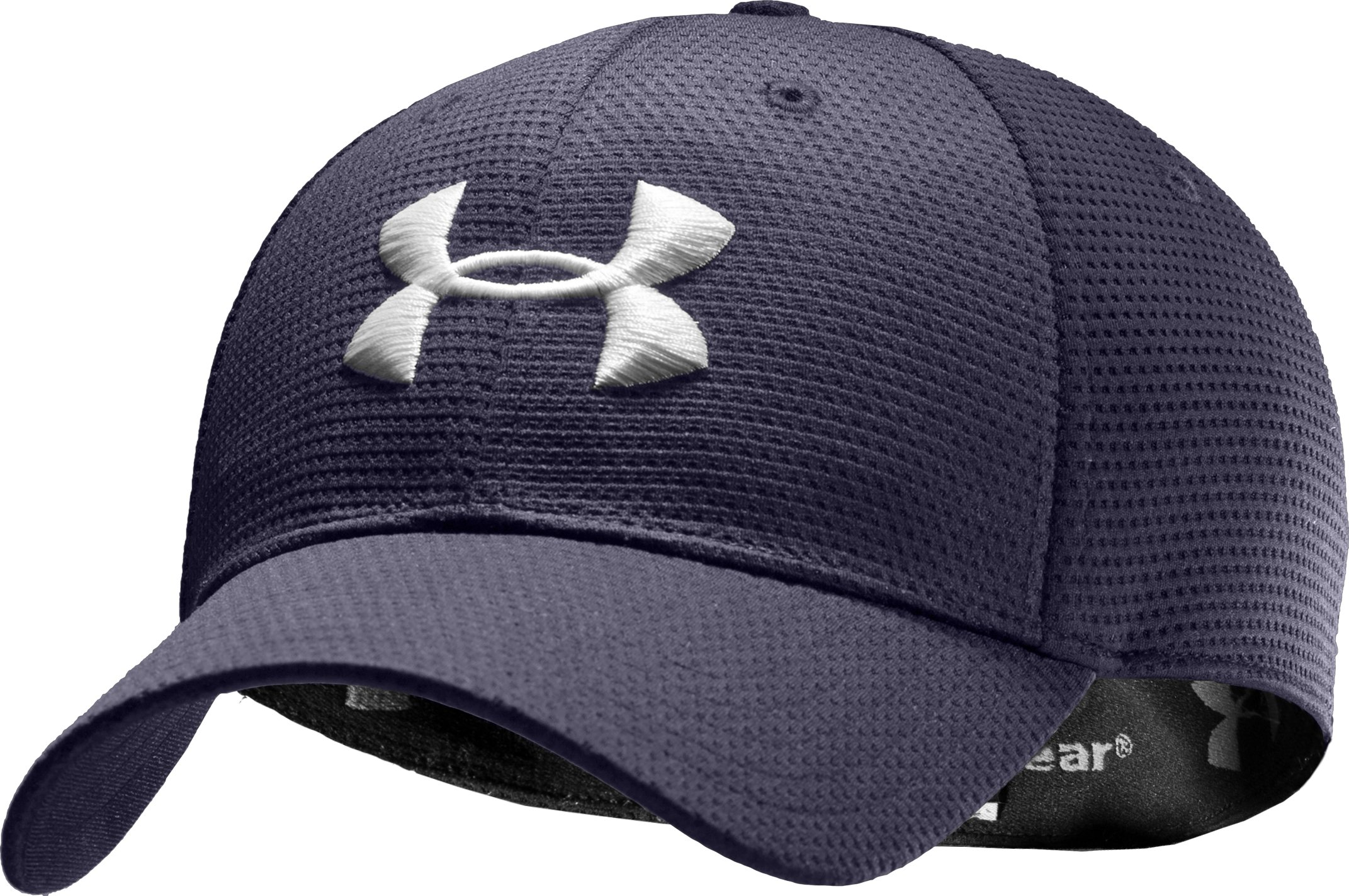 Men's UA Blitzing Stretch Fit Cap, Midnight Navy,