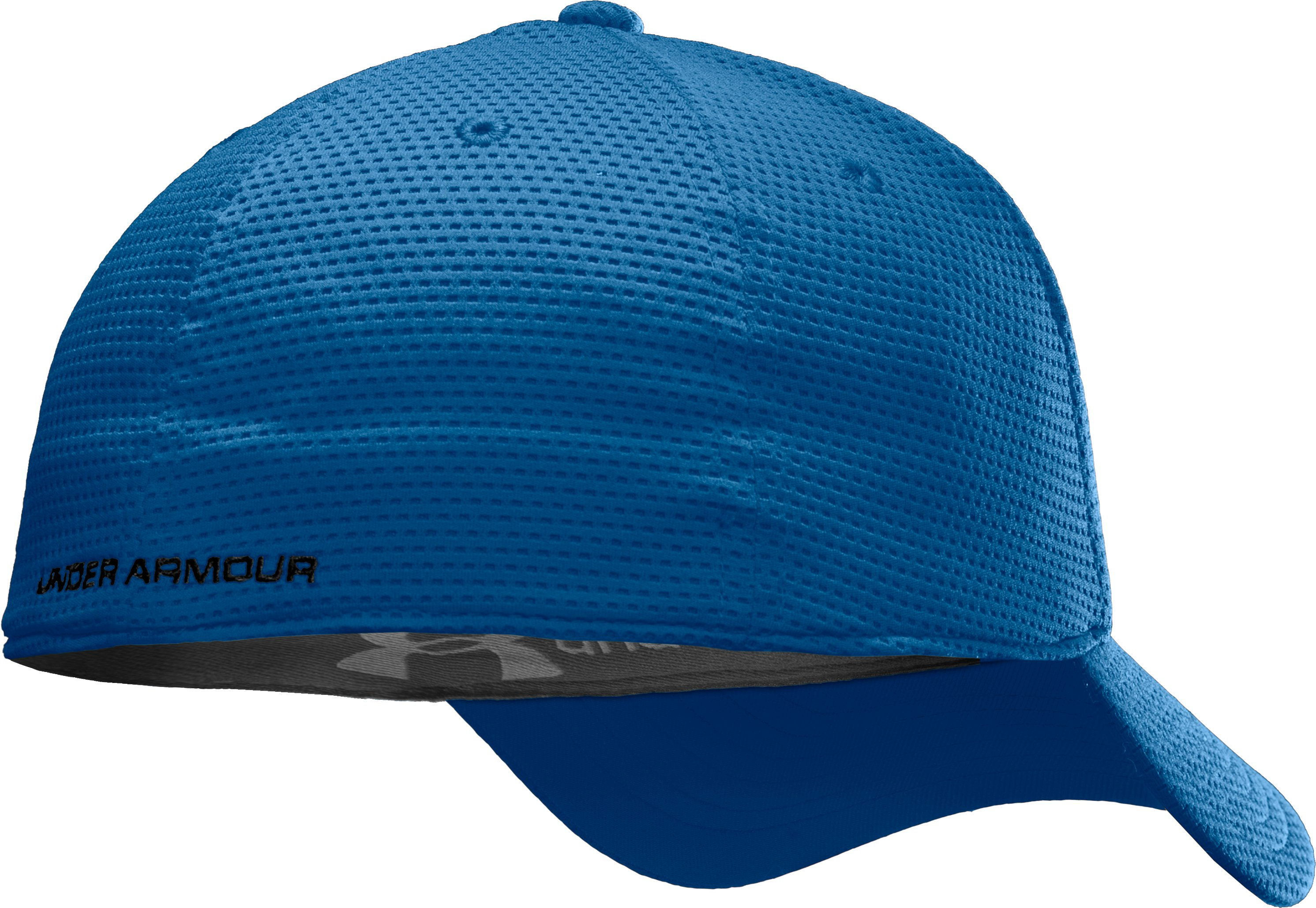 Men's UA Blitzing Stretch Fit Cap, Charter Blue